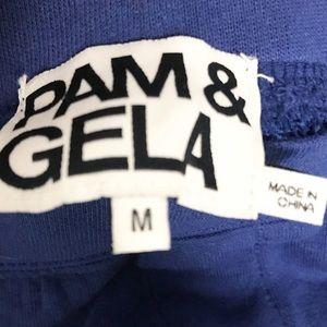 Pam & Gela Pants - Pam & Gela. Blue Snap sweaterpants. Track pants
